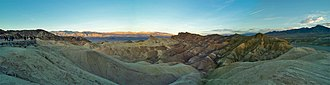 Zabriskie Point - Another panoramic view from Zabriskie Point, at sunrise