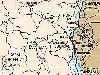 Kivu conflict - Eastern Democratic Republic of Congo map.