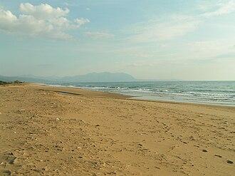 Zacharo - The beach of Zacharo is one of the longest in Greece.