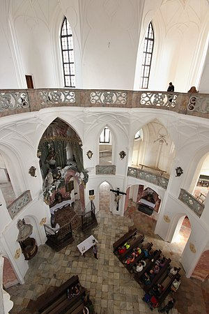 Pilgrimage Church of Saint John of Nepomuk - Central area and two floors
