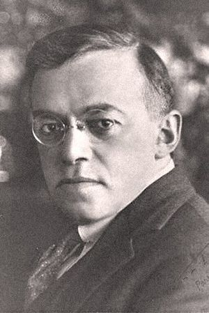 Publicity photo of Zeev Jabotinsky, founder of...