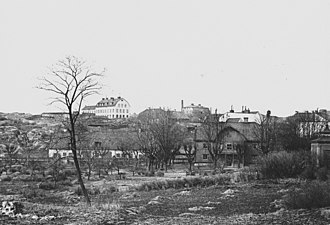 Zinkensdamm - The only remaining photograph of the Zinkensdamm manor, taken in 1890