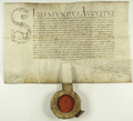 Zygmunt II August król polski potwierdza i transumuje uchwałę władz miasta Poznania z 1550.VII.17 dotyczącą obowiązku ważenia towarów na wadze miejskiej.png