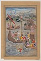 """Alexander is Lowered into the Sea"", Folio from a Khamsa (Quintet) of Amir Khusrau Dihlavi MET DP120802.jpg"