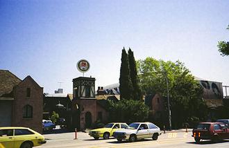 Jim Henson Company Lot - Image: @ A&M Studios Main Gate, 11 Feb 1988