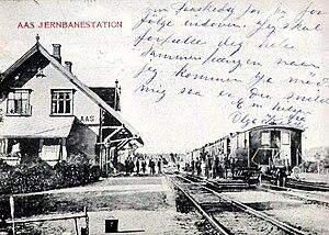 Ås Station - Ås Station in 1902