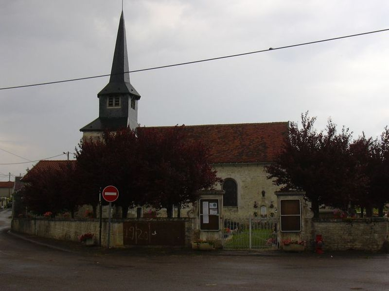 Saint-Rémy's church in Harricourt (Haute-Marne, Champagne-Ardenne, France).