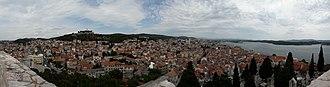 Šibenik - View of southern Šibenik from St. Michael's fortress