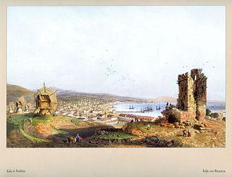 Feodosia - Feodosia, painting by Carlo Bossoli, 1856