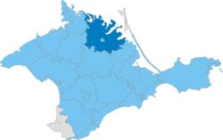 Vị trí của huyện Dzhankoy trong Cộng hòa Tự trị Krym
