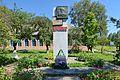 Курінька. Братська могила радянських воїнів, пам'ятний знак полеглим воїнам-землякам.jpg