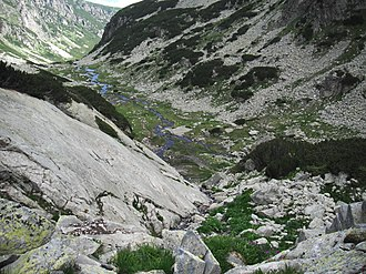 U-shaped valley - Malyovitsa U-shaped valley, Rila Mountain, Bulgaria