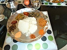 Telugu cuisine wikipedia vegetarian ordinary meals made in a house of andhra pradesh vijayawada forumfinder Gallery