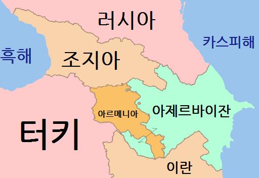 남캅카스의 국가들