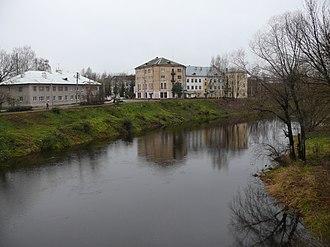 Porkhov - The Shelon River in Porkhov