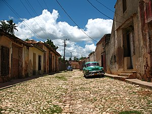 A street in Trinidad, Cuba. Trinidad has been ...