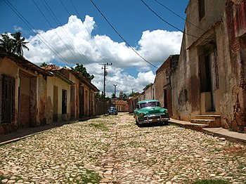 A street in Trinidad, Cuba, part of the UNESCO World Heritage.