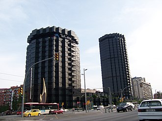 Avinguda Diagonal - La Caixa Headquarters on Avinguda Diagonal