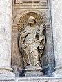 074 Sant Miquel dels Reis (València), façana de l'església, Santa Paula.jpg