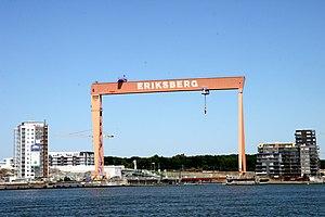 Eriksbergs Mekaniska Verkstad - Image: 090627 Eriksbergskranen