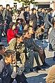 0916 - Nordkorea 2015 - Pjöngjang - Public Viewing am Bahnhofsplatz (22963768102).jpg