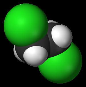 1,2-Dichloroethane - Image: 1,2 dichloroethane 3D vd W