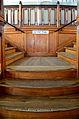 100 Jahre Dampfschiff 'Stadt Rapperswil' - Tag der offenen Dampfschiff-Türe am Bürkliplatz - Innenansicht - Treppenaufgang 2014-04-25 14-08-30.JPG