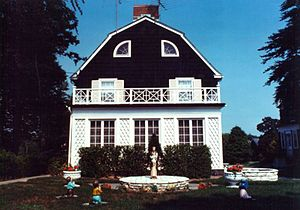 The Amityville Horror (1979 film) - The house exteriors were shot at a home in Toms River, New Jersey after public officials refused to allow filming at the real home (pictured here).