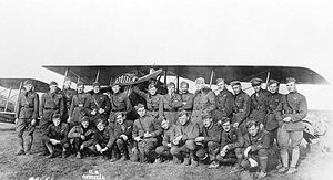 147th Aero Squadron - 147th Aero Squadron group photo with a SPAD XIII. Likely taken at Rembercourt Aerodrome, France, November 1917