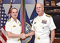 160706-N-FK070-001 Adm. Swift, commander of U.S. Pacific Fleet, conducts an office call with Vice Adm. David Johnston.jpg
