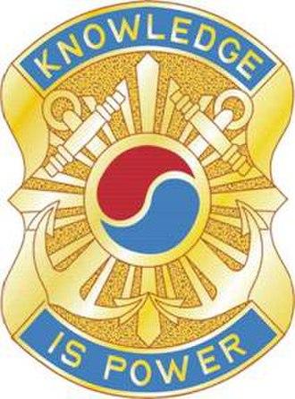 504th Military Intelligence Brigade - Image: 163 MI Bn DUI