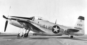 66th Fighter Wing - Illinois Air National Guard 169th Fighter Squadron F-51H Mustang 44-64661
