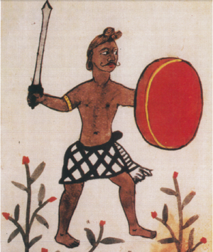 Battle of Cochin (1504) - 16th century Portuguese depiction of a Malabarese Nair warrior