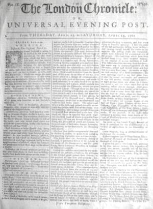 London Chronicle - London Chronicle, 1761