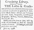 1798 Hubbard library NorwichCourier CT July12.png