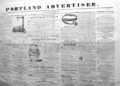 1841 Portland Advertiser newspaper Maine USA Dec7.png