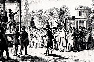 Frankfurt Parliament - Political assembly, Berlin, 1848