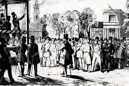 Political assembly, Berlin, 1848