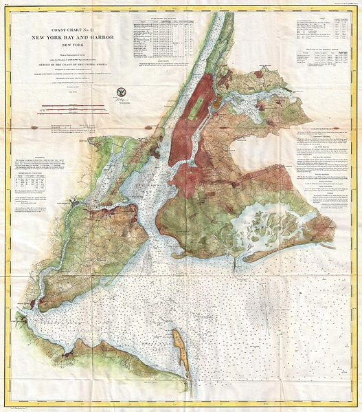 File:1861 U.S. Coast Survey Map of New York City Bay and Harbor - Geographicus - NewYorkBayHarbor4-uscs-1861.jpg