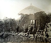 1867-68 Abyssinia Expedition, (47), Magdala, sentry post over gate, (Custom).jpg