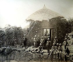 1867-68 Abyssinia Expedition, (47), Magdala, sentry post over gate, (Custom)