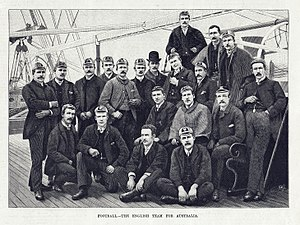 1888 British Lions tour to New Zealand and Australia - The original caption reads Football – The English Team for Australia
