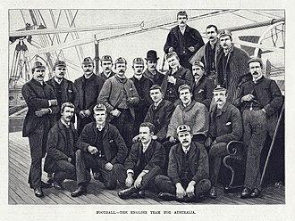 1888 British Lions tour to New Zealand and Australia - The original caption reads Football – The English Team for Australia
