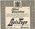 1906 Anzeige Louis Fuge, Möbel, Dekoration, kgl. preußischer Hoflieferant, Hannover, Georgstraße 10.jpg