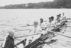 Rowing at the 1912 Summer Olympics – Men's eight - Image: 1912 British eights Leander