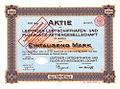 1913-03-25 Aktie 1000 Mark Nr. 0455 Leipziger Luftschiffhafen- und Flugplatz-Aktiengesellschaft Zeppelin Reichs-Stempel-Abgabe versteuert.jpg