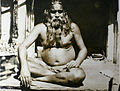 1929 photograph of a holy man in Benares.jpg