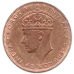 1941 Hong Kong One Cent Coin (Obverse).png