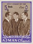 1964 stamp of Ajman JFK 7.jpg
