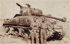 1965 Indo-Pak War DestroyedShermanTank.jpg